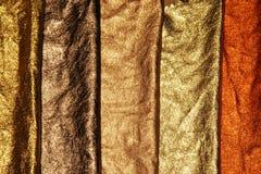 Five metal textures Royalty Free Stock Photos