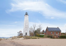 Five Mile Point Lighthouse Royalty Free Stock Photos