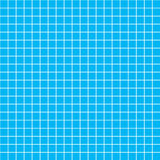 Five millimeters white grid on blue, blueprint seamless pattern Royalty Free Stock Image