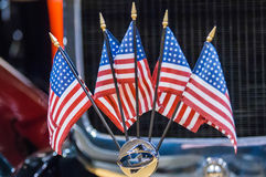 Five mini  flags Stock Images