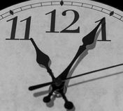 Five mintues after eleven o`clock Stock Photos