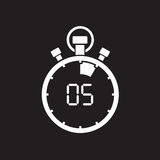 Five minute stop watch countdown. A five minute stop watch countdown royalty free illustration