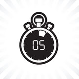 Five minute stop watch countdown. A five minute stop watch countdown vector illustration