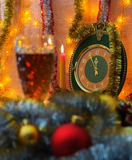 Five minutes later, there will come the New Year. Stock Photography