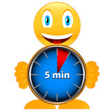 Five minutes with smile Stock Image