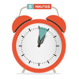 Five Minutes Stop Watch - Alarm Clock Stock Images