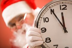 Five minutes to Christmas Stock Photo