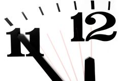 Five Minutes to Midnight stock photos