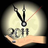 Five minutes to midnight for New Year 2011 Royalty Free Stock Image