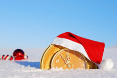 Five minutes to new year Stock Photography