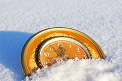 Five minutes to new year Royalty Free Stock Images