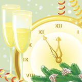 Five minutes to the new year Stock Photo