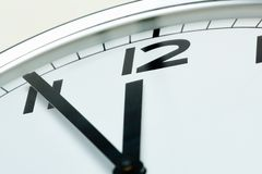 Five minutes to twelve Stock Photography