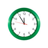 Five minutes to twelve on the clock Royalty Free Stock Images
