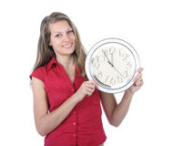 Five minutes to twelve - deadline Stock Photos