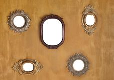 Five mirror frames Royalty Free Stock Images
