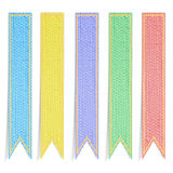 Five mulberry paper ribbons colors for banner Royalty Free Stock Photo