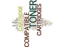 Five Myths About Compatible Toner Cartridges Text Background  Word Cloud Concept Stock Images