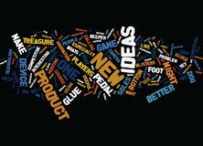 Five New Product Ideas Text Background  Word Cloud Concept Stock Photography