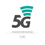 Five. New 5th generation mobile network logotype. vector 5G icon. high speed connection wireless systems symbol. telecommunications standard of faster Internet Stock Photography