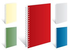 Five notebooks Royalty Free Stock Images
