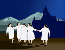 Five nuns Stock Photos