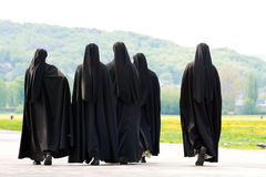 Five nuns Royalty Free Stock Photo