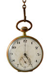 Five o'clock. Old clock marking the 5 o'clock Stock Photo