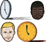 Five 'O Clock Shadow stock illustration