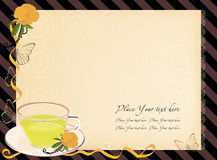 Five o'clock tea invitation Stock Photos