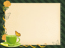 Five o'clock tea invitation Stock Images