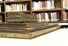FIVE OLD BOOK. PICTURE OF FIVE OLD BOOK royalty free stock photography