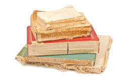 Five old books. On white background Royalty Free Stock Photos