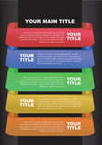 Five options banner Royalty Free Stock Photo