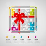 Gift infographics Royalty Free Stock Photo