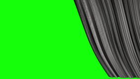 Five options for opening texture curtains with a green screen. Textured opening curtains with transparent background, for transitions to film frames, quick stock illustration