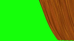 Five options for opening texture curtains with a green screen. Textured opening curtains with transparent background, for transitions to film frames, quick vector illustration