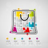 Shopping infographics Royalty Free Stock Photos