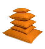Five orange pillows Royalty Free Stock Photography
