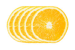 Five of Orange Slice Royalty Free Stock Photos