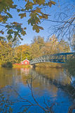 Five ores bridge in Norrkoping. With blue sky Royalty Free Stock Photos