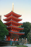 Five pagoda in Japan Stock Images