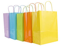 Five Pastel Shopping Bags 2 Royalty Free Stock Image
