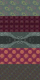 Set OF Five Patterns - Bubbles 2 Stock Photography