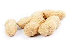 Five peanuts Royalty Free Stock Image