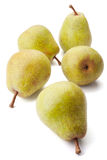 Five pears Royalty Free Stock Photos