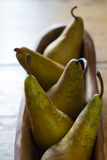 Five pears Royalty Free Stock Image