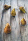 Five pears Stock Images