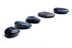 Five pebbles Stock Image