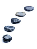 Five pebbles Royalty Free Stock Images